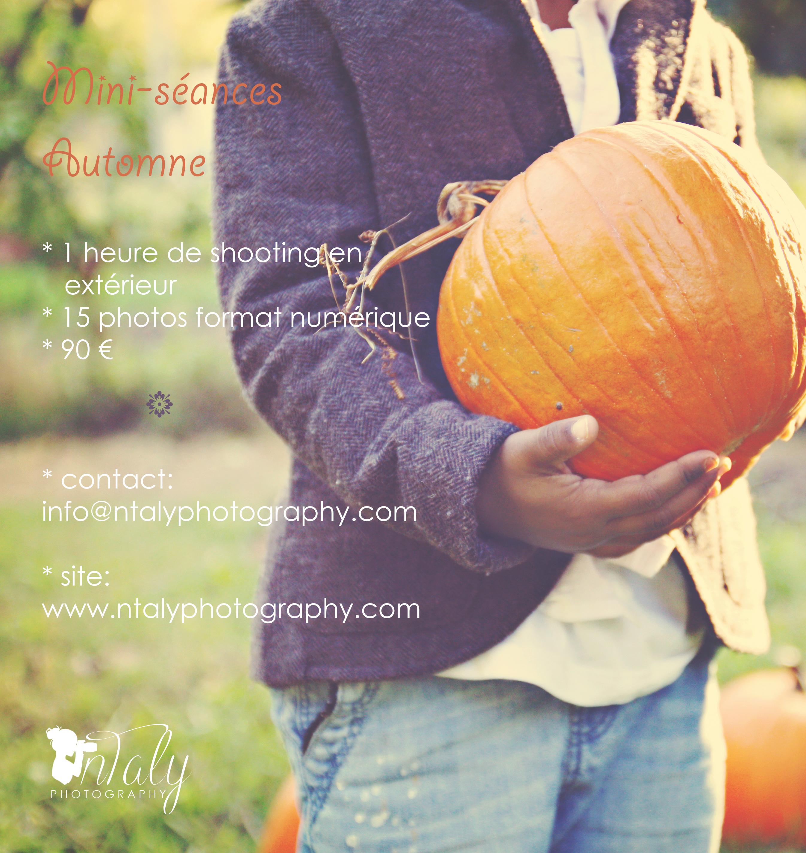 offre spéciale séance photo famille automne vacances toussaint halloween