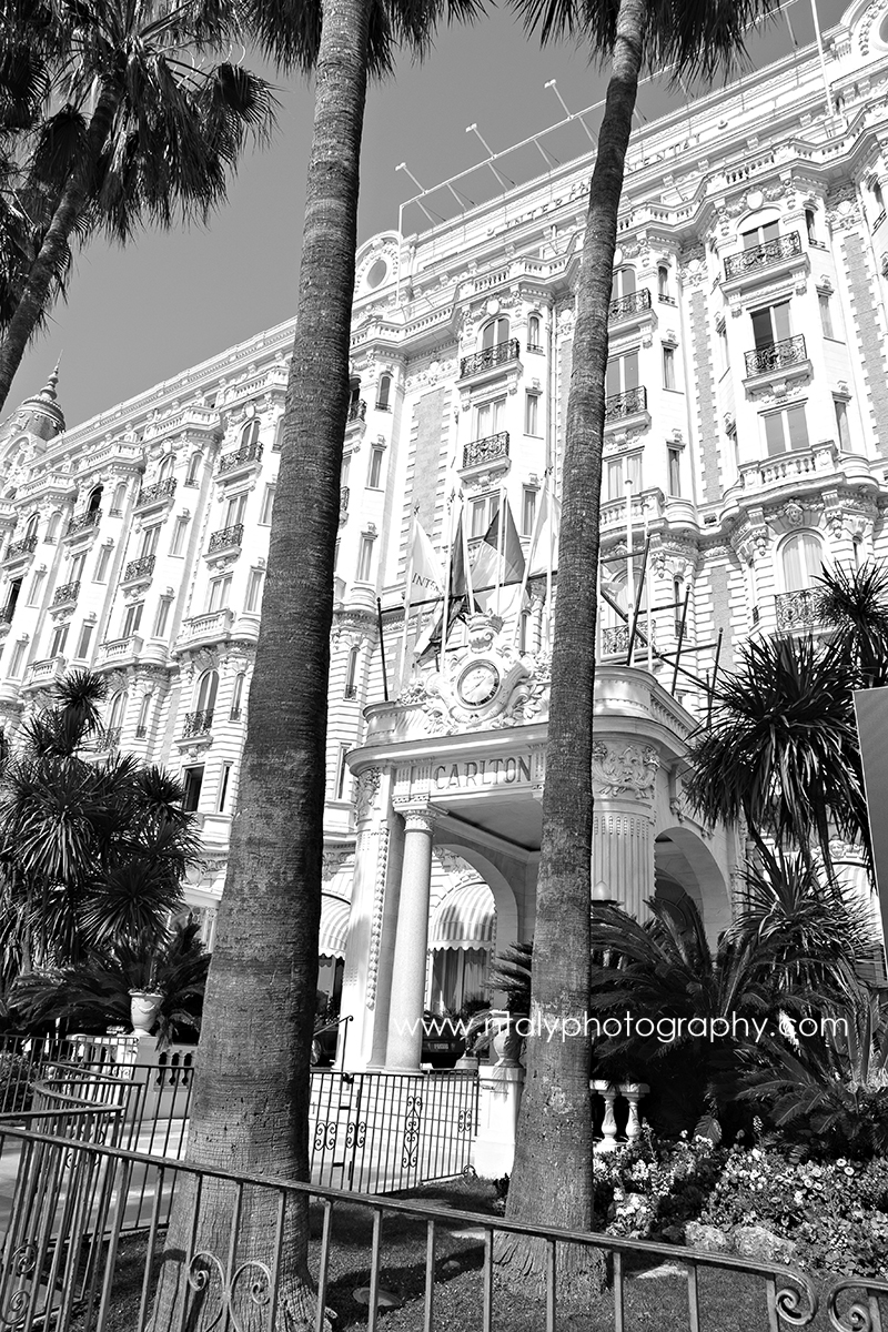 photo noir et blanc le carlton hotel cannes
