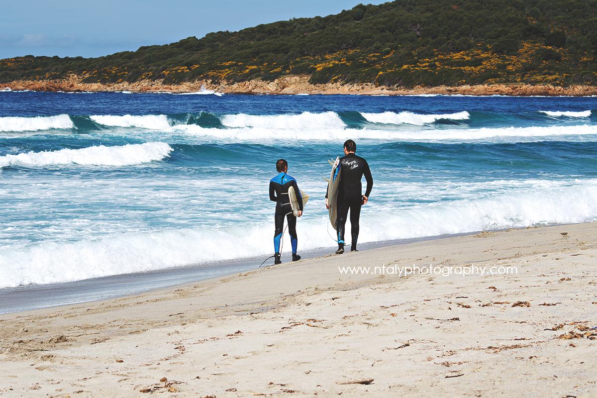 surfeurs plage