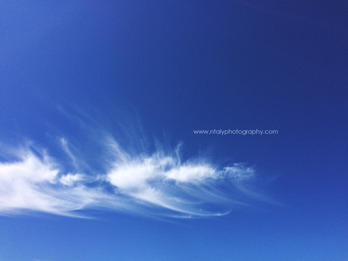 photographie ciel bleu petit nuage