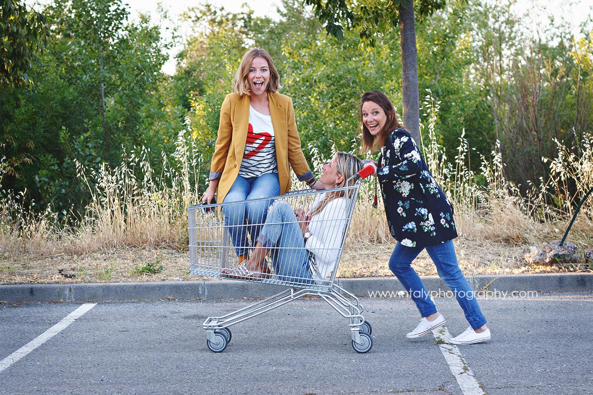 3 soeurs fun caddie supermarché
