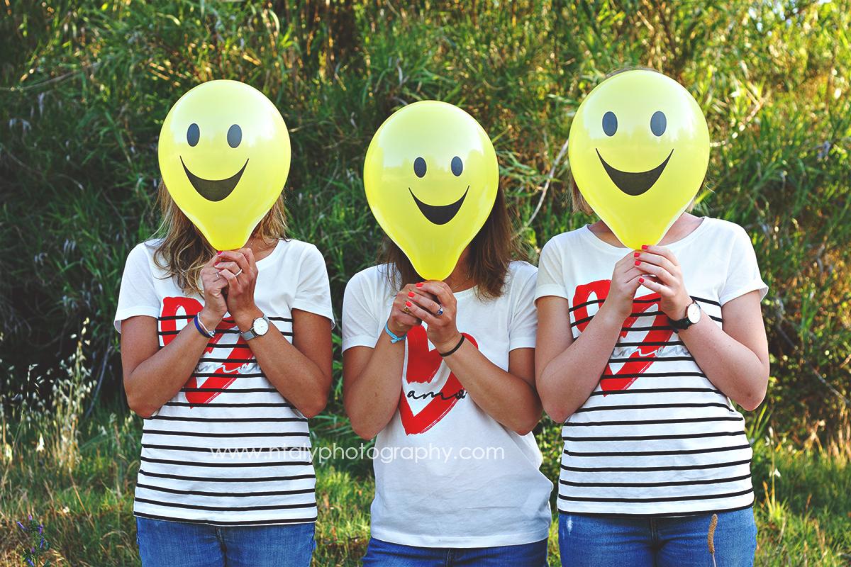 3 soeurs ballons smiley