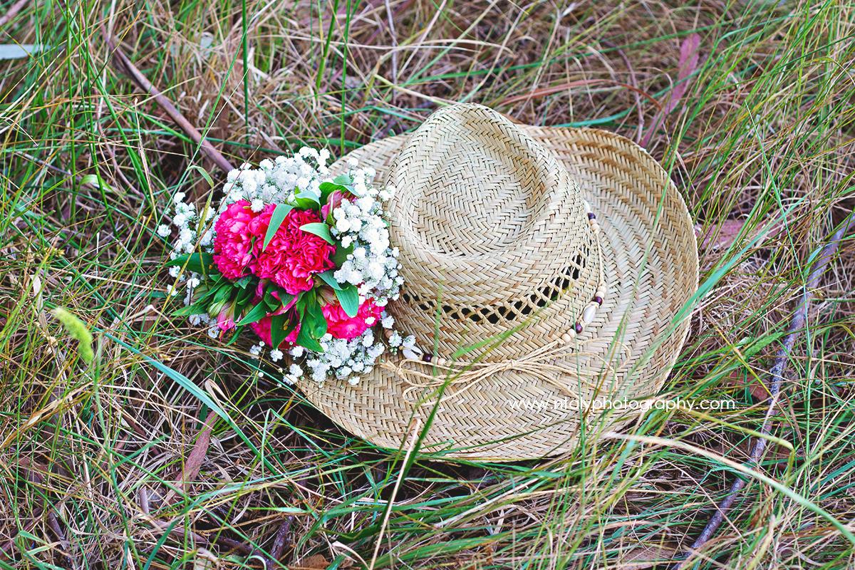 chapeau campagne fleurs