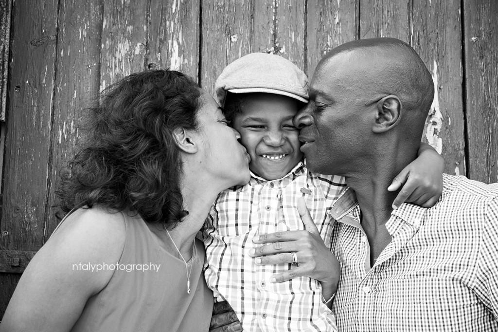 photographie famille noir et blanc
