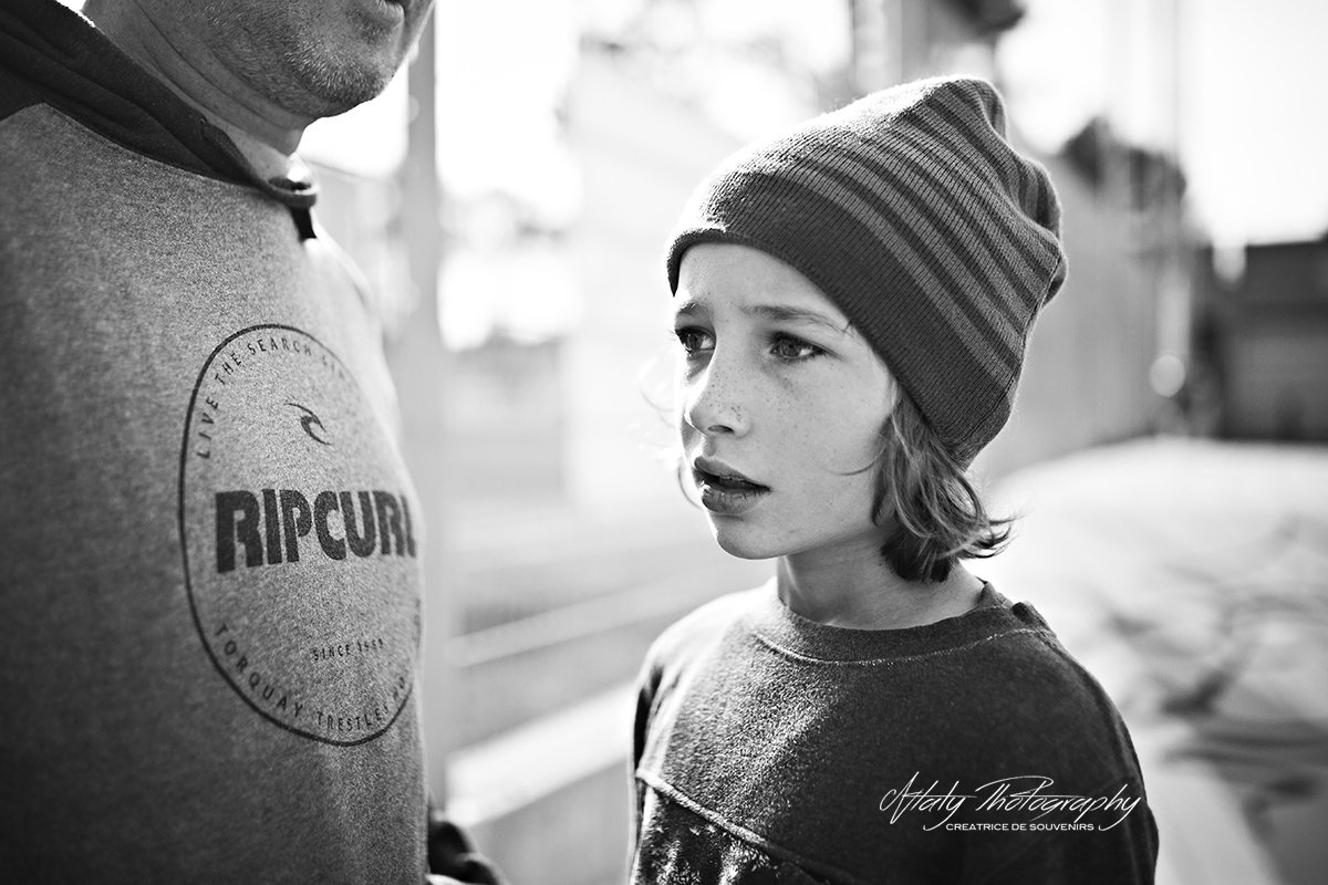 enfant portrait noir et blanc