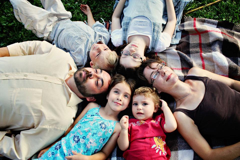 famille nombreuse photo
