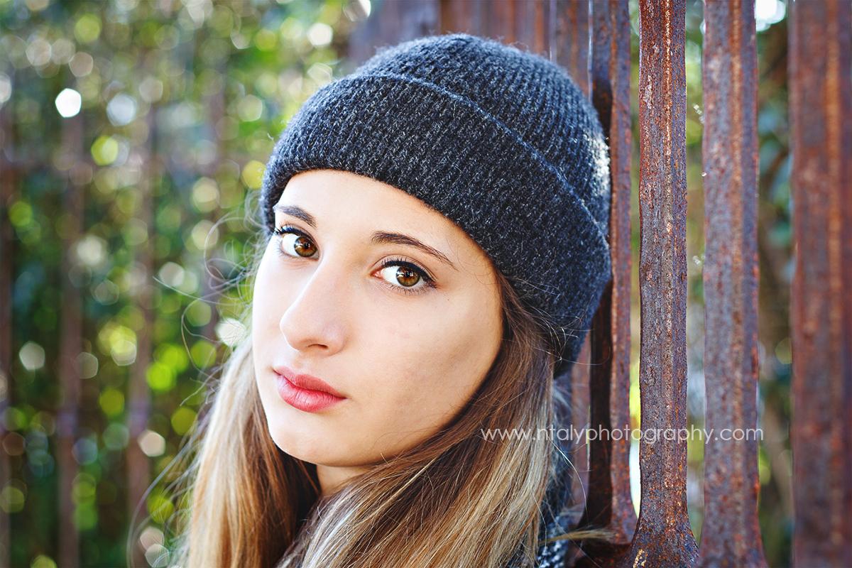 jeune femme bonnet