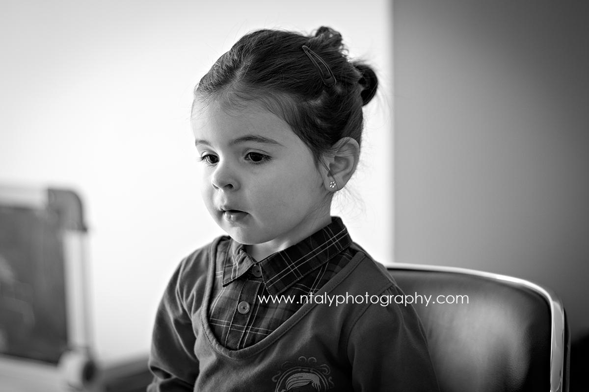 portrait fillette noir et blanc