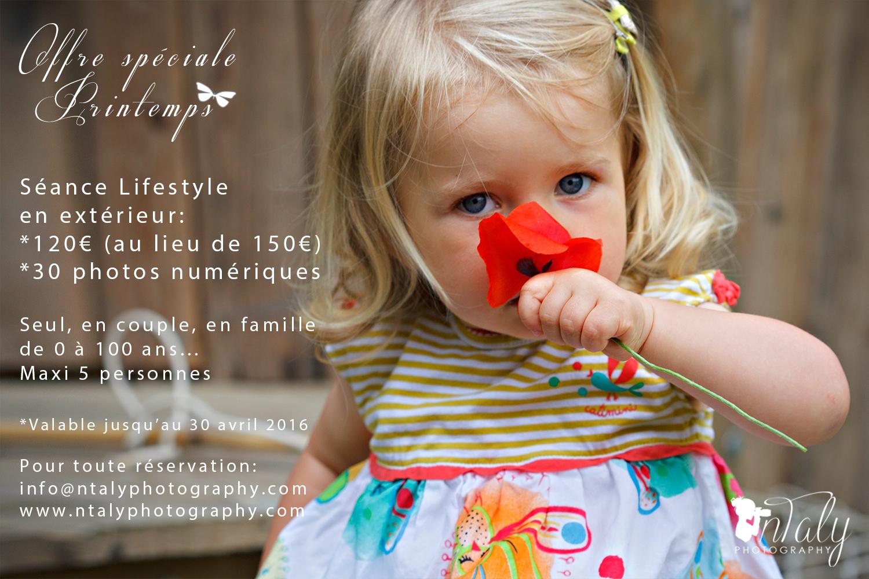offre spéciale séance photo lifestyle printemps 2016
