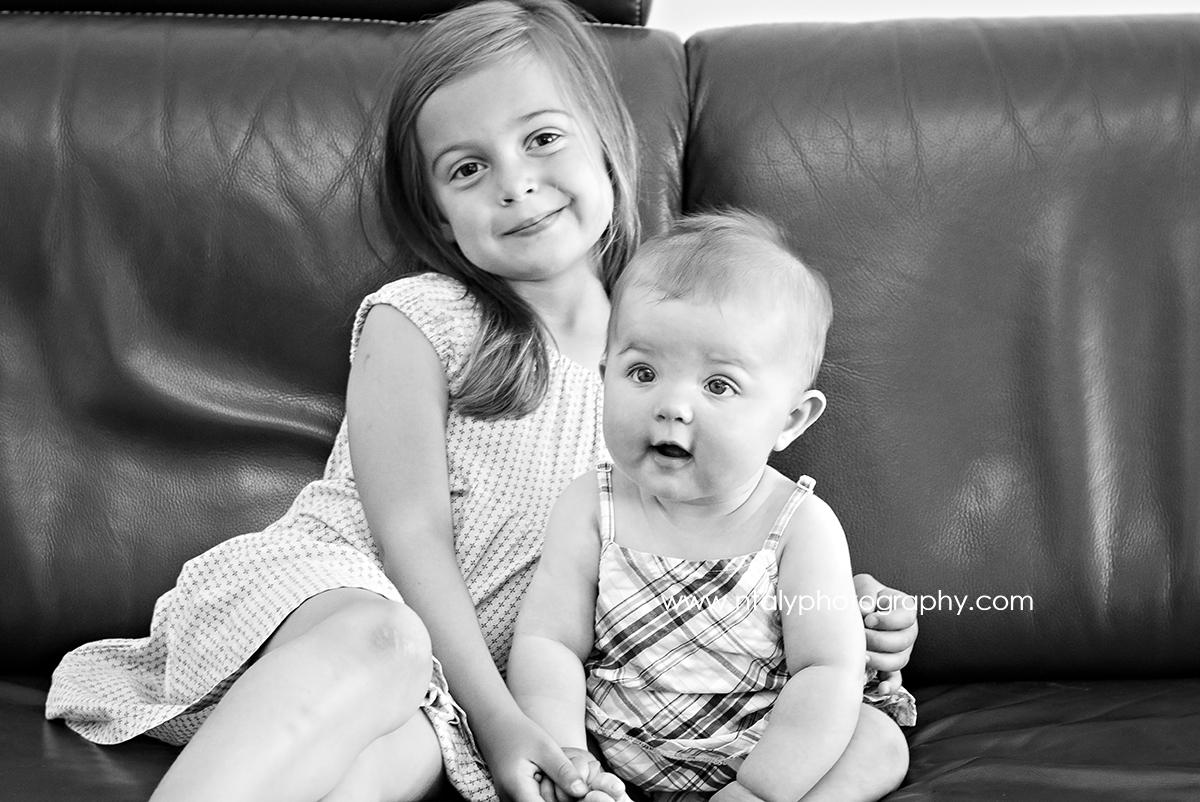photographie noir et blanc enfance soeurs