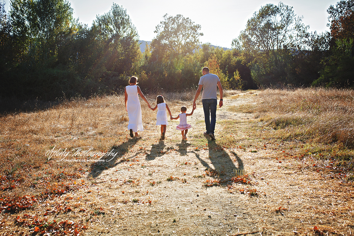 famille champs été soleil