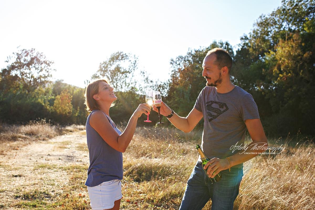 anniversaire fête couple champagne