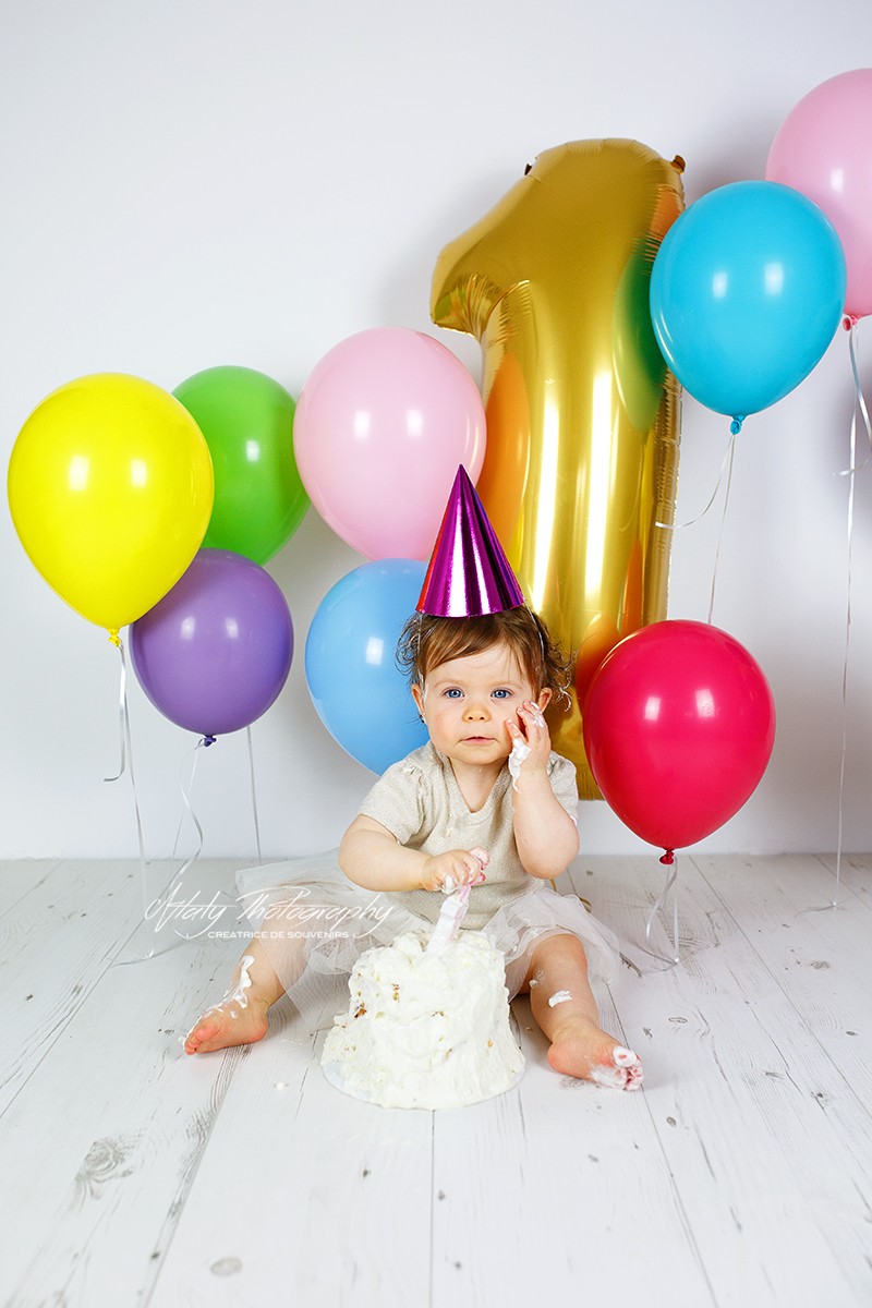 anniversaire fille chapeau ballons